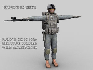 3d roberts soldiers 101st airborne model