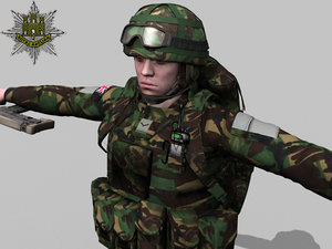 rigged british soldier royal 3d max