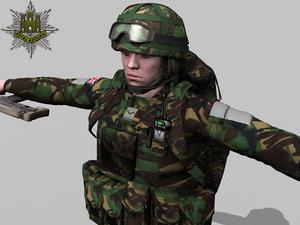 max british royal anglian soldier