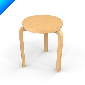 3ds max aalto stool design 60