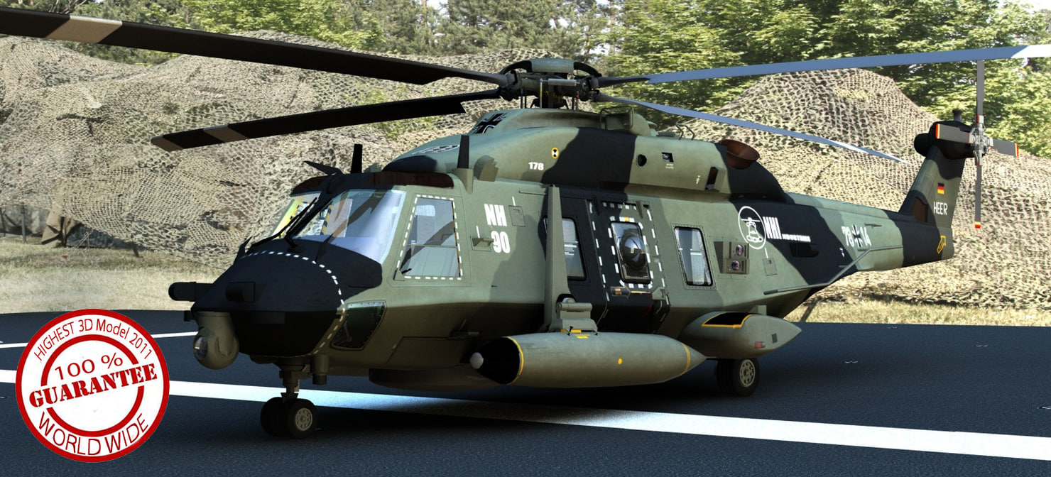 3d nh-90 highest nh90 model