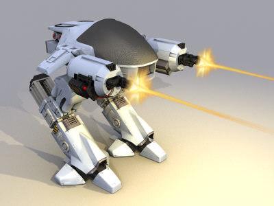3d model of ed 209 robot robocop