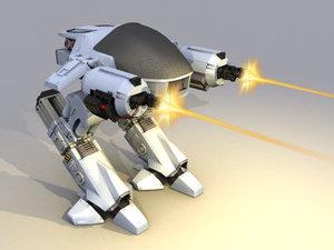 3d max ed 209 robot robocop