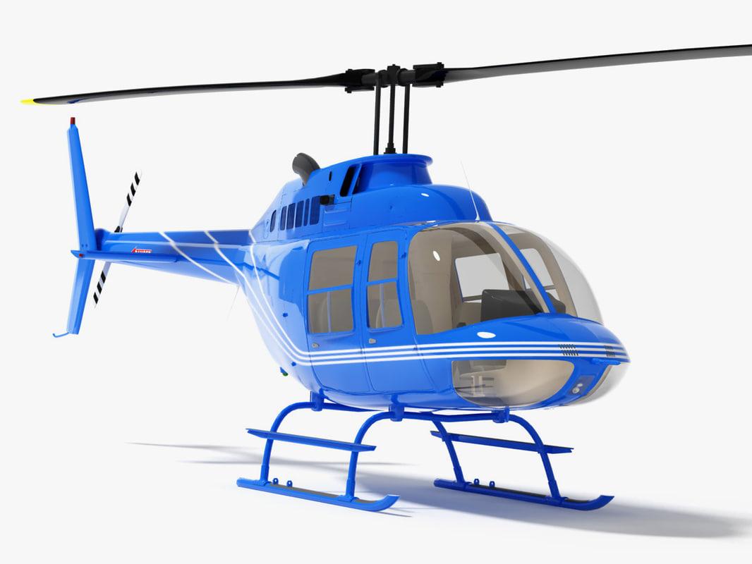 3d model bell 206 jetranger helicopter
