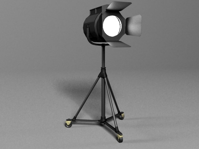 studio spot light 3d max