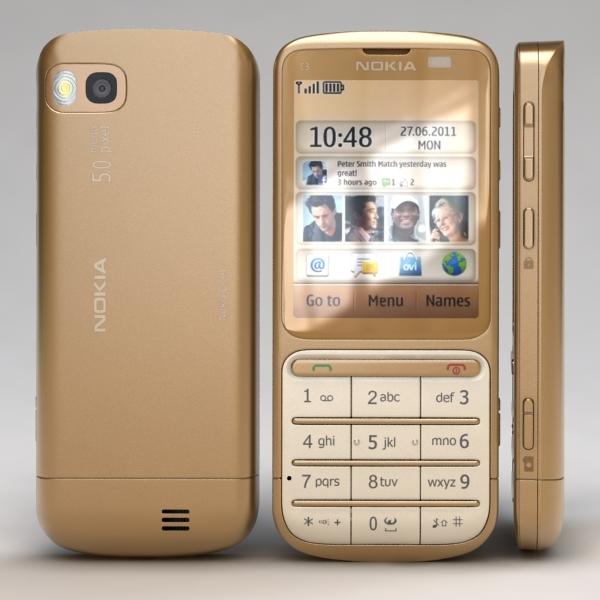 nokia c3-01 gold edition 3d model