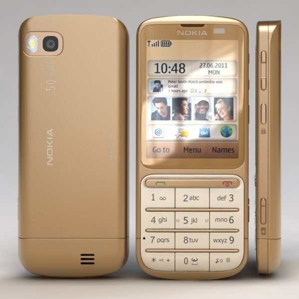 nokia c3-01 gold edition 3d model