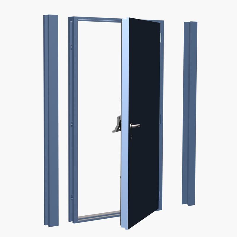 3d max steel security door