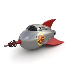 3d toy rocket model