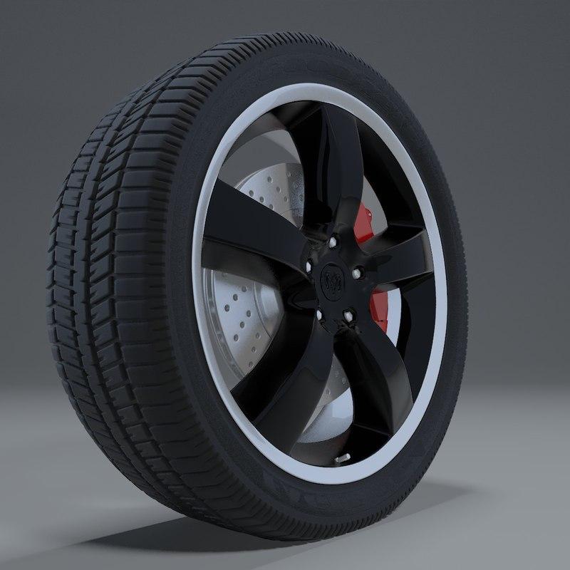3d model rim dodge