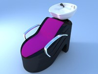 3d model ladies hairdresser s seat