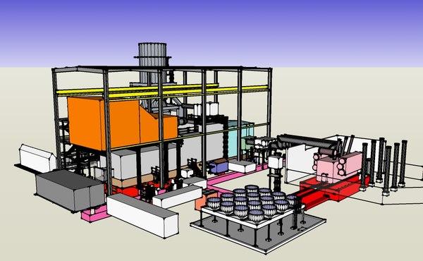gas turbine 3d model
