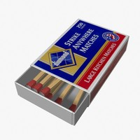 matchbox matches 3d model