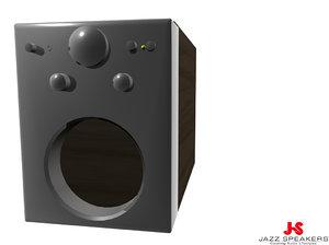 3dsmax jazz speaker subwoofer