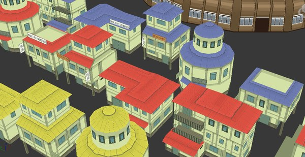 naruto building pack 3d model