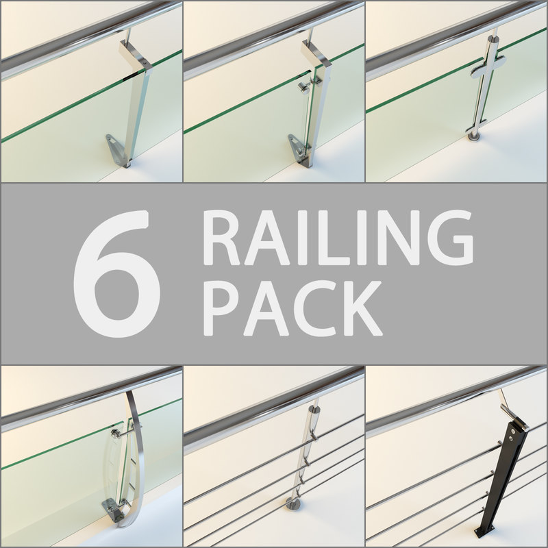 3ds max pack 6 railing