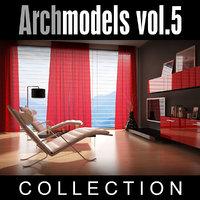 3d model archmodels vol 5 armchairs