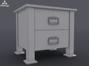 nightstand stand 3d model
