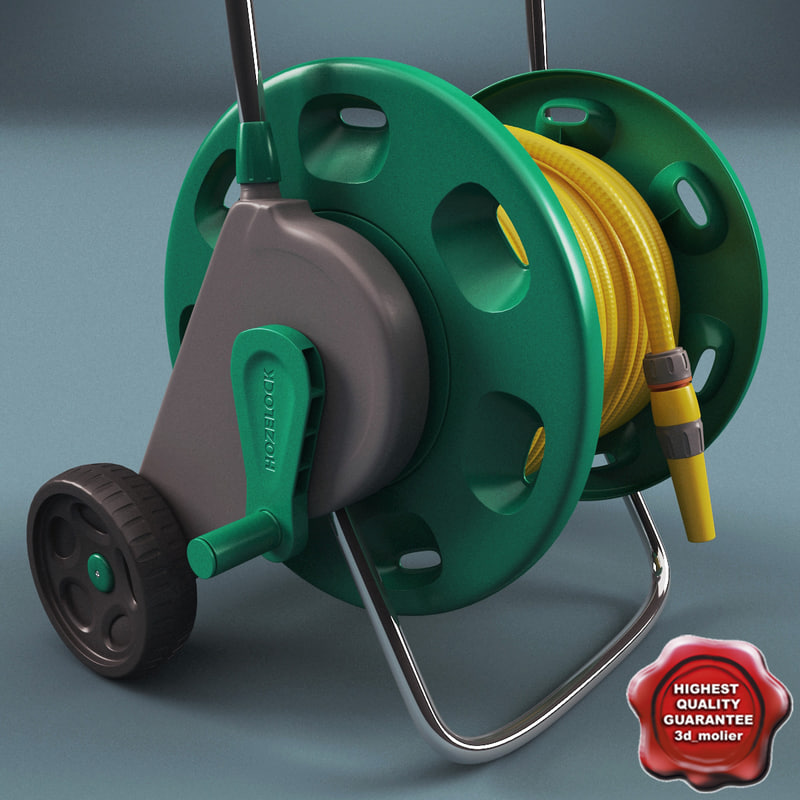 3d model claber hose cart v2