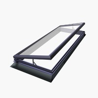 Electric hinged style rooflight