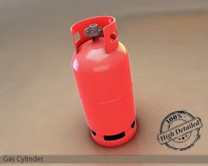 gas cylinder 3d model
