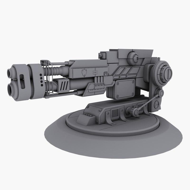 pressure cannon 3d model