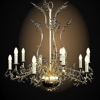 Mechini classic chandelier luxury candle light floral lamp