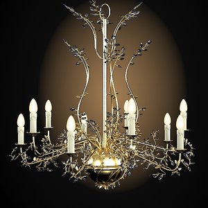 mechini classic chandelier 3d max