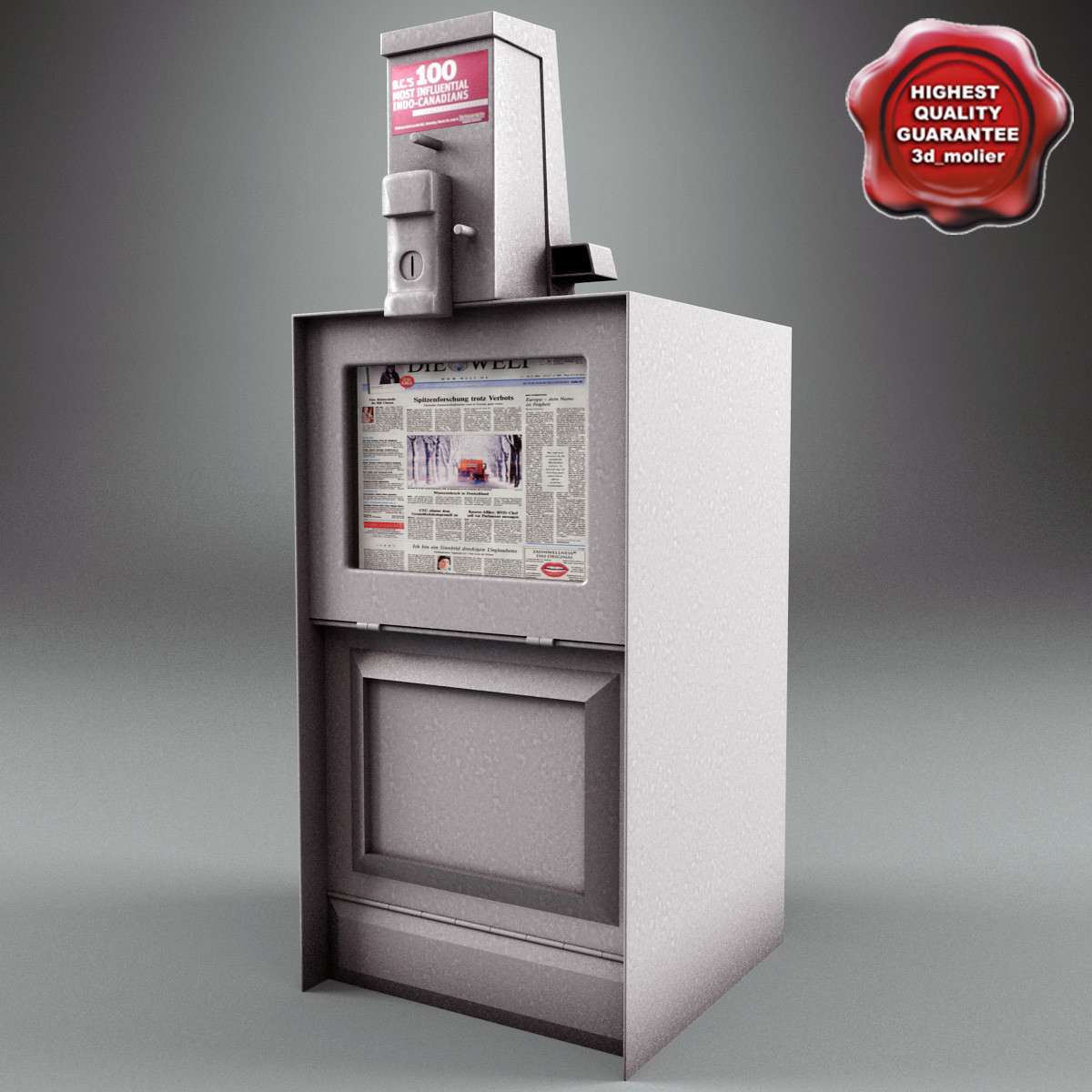 newspaper street dispenser v2 3d model