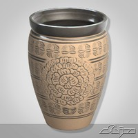 ornamented pot 3d max