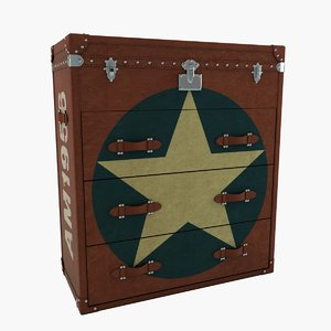 3d star chest drawers