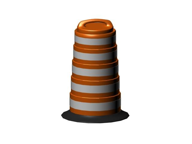 traffic cone 3d x