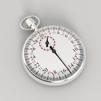 3d stopwatch watch model