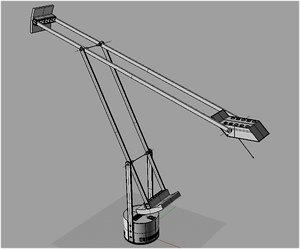 3d model tizio lamp richard sapper
