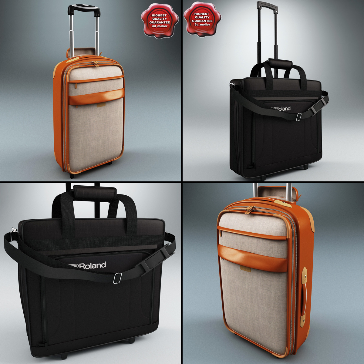 3ds max wheeled travel bags