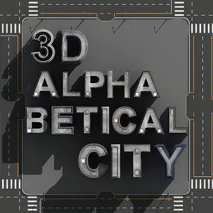 3ds max alphabetical city buildings