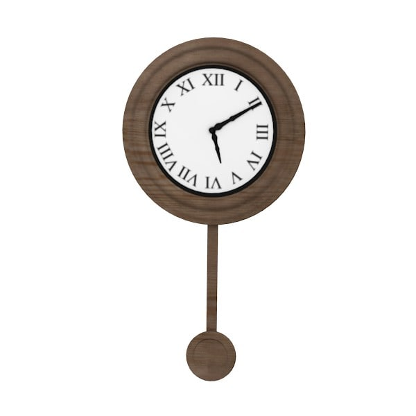 antique wall clock 3ds