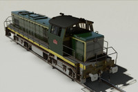 3d model locomotive sncf