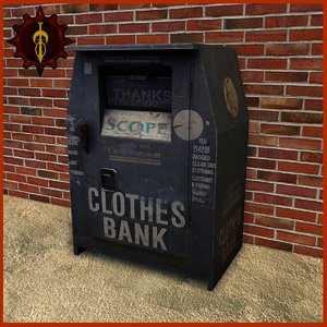 clothes bank outdoor 3d 3ds