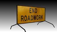 End Roadworks Sign