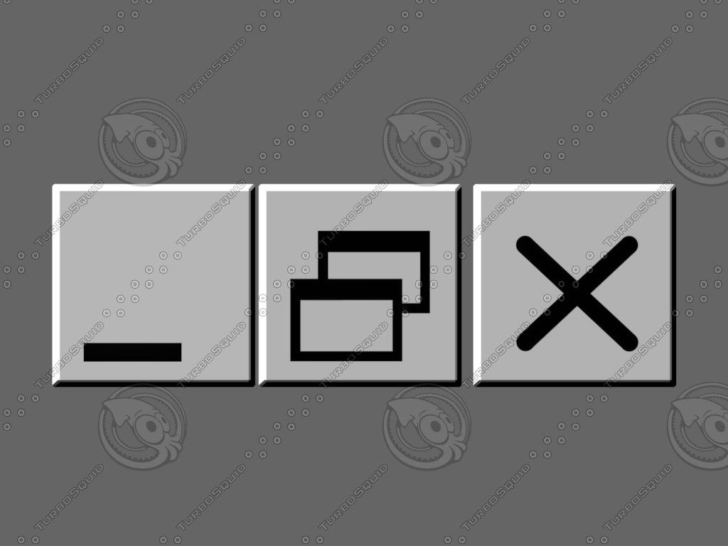 windows buttons 3d c4d