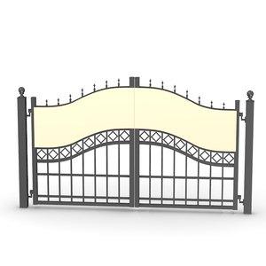 gate 3d model