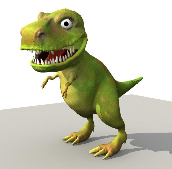 3d model of t-rex cartoon