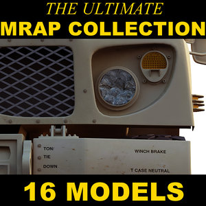 3d military vehicles mrap