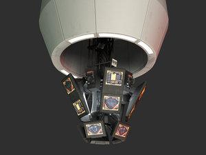cic dradis battlestar galactica 3d model