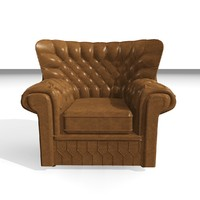 3d devon 1 seater leather chair