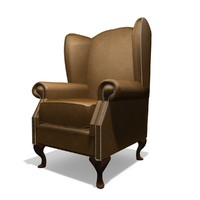Classic Winged 1 Seater Chair