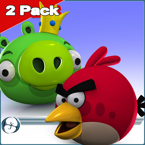 3d angry bird 2 pack