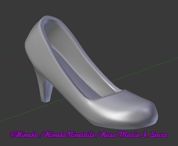 simple toe heel shoe 3d model