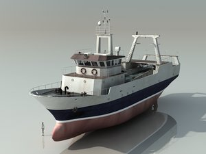 3ds max stern trawler